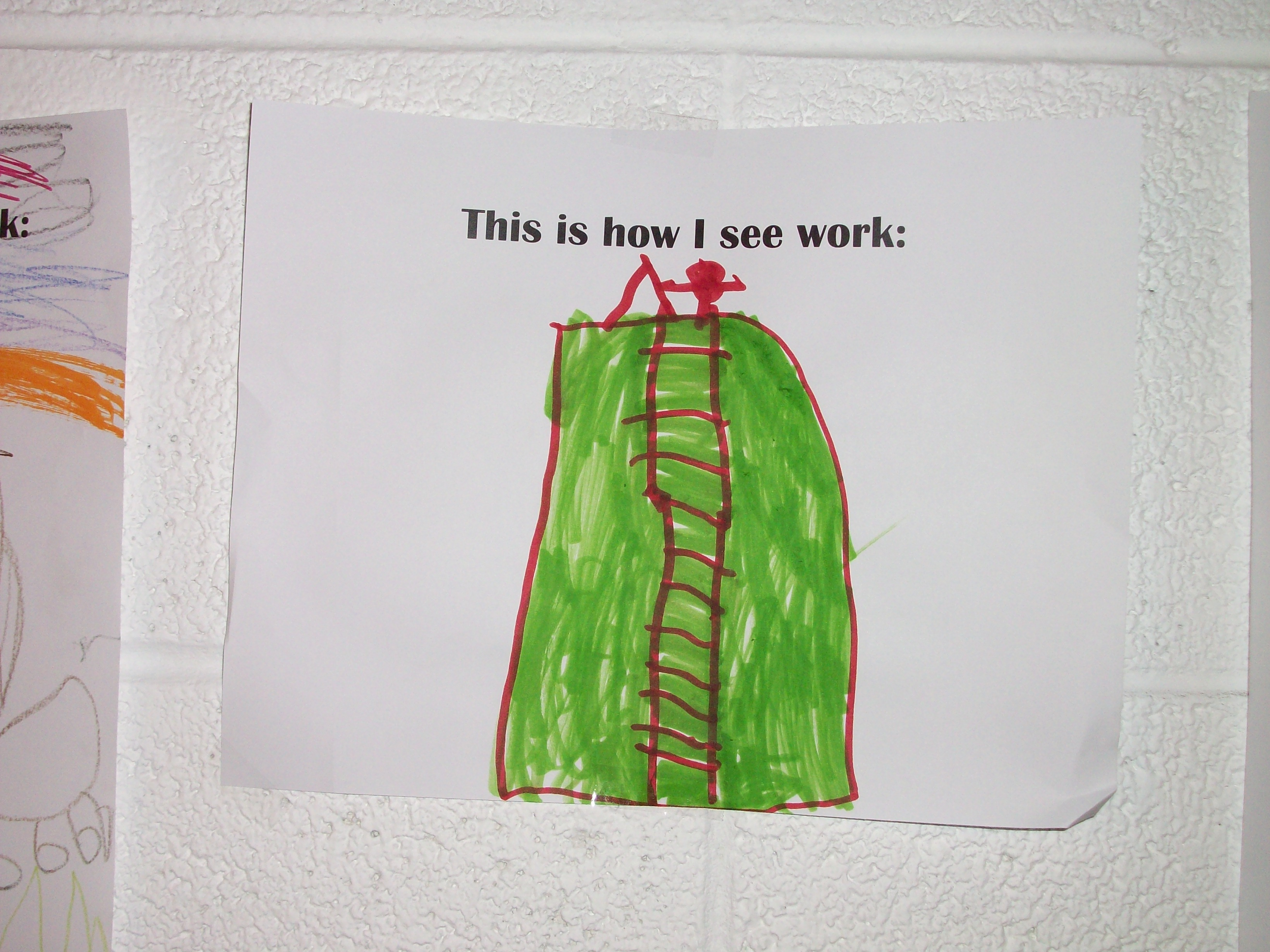 "A representation of one students favorite photograph from the exhibit ""The Way We Worked"""