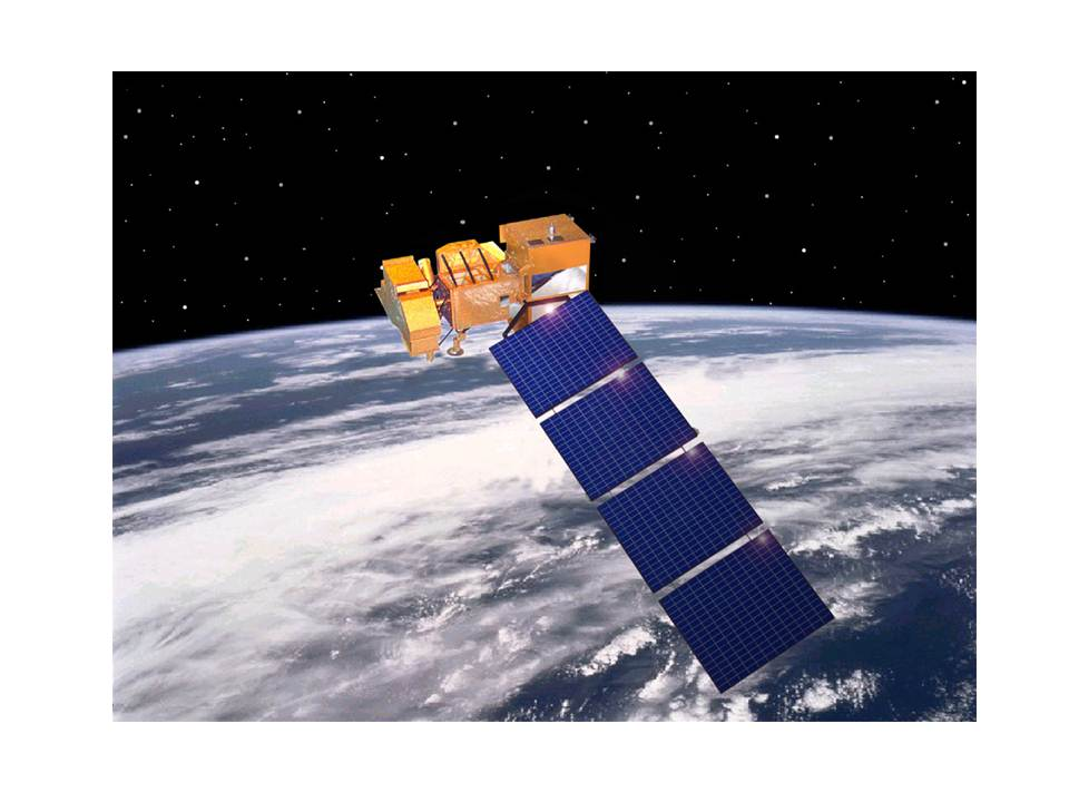 An image of a landsat.