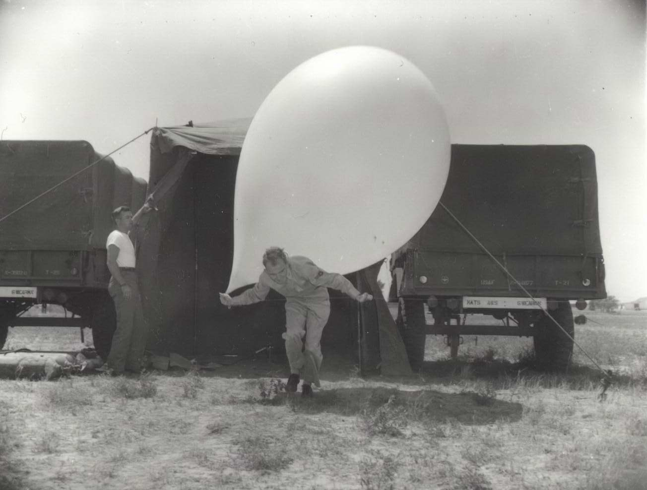 High Plains Museum | PM368MISC Air Force sending up a weather balloon from Goodland Airport.