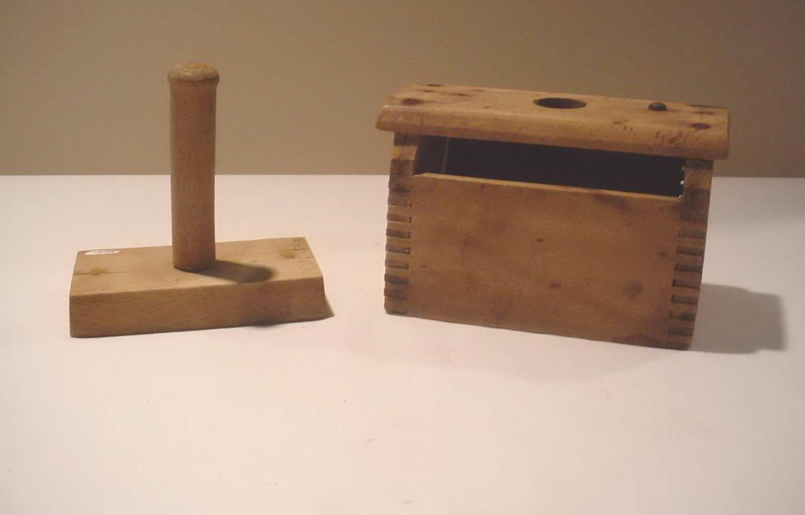 High Plains Museum | HHG030 1 pound wooden butter mold