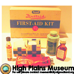 High Plains Museum | MC399 First Aid Kit Rexall No. 4