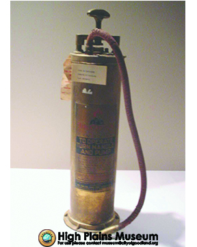 High Plains Museum | MC493 Antique fire extinguisher