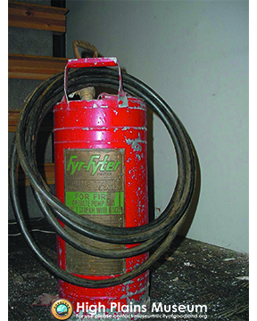 High Plains Museum | P186 Red pump extinguisher