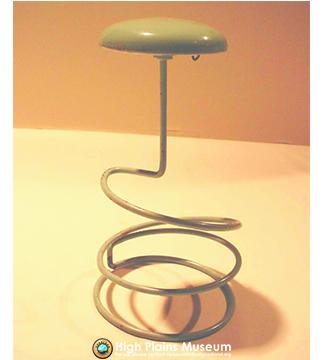 High Plains Museum | MC575 Light green hat stand.