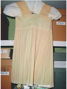 High Plains Museum | MC918 Pinafore circa 1950's.