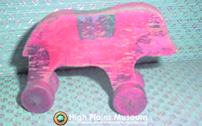 High Plains Museum | T025 Wooden Pull Toy