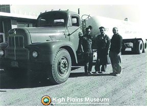 High Plains Museum | PM158TRANS The Blue brothers, transporters for Caldwell's gasoline.